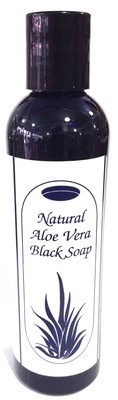 Natural Aloe Vera Black Soap 4oz