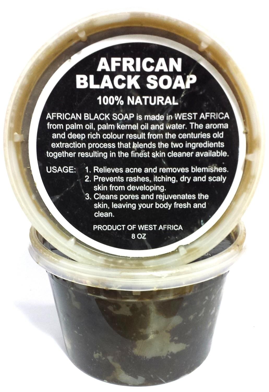 African Black Soap 100% Natural 16oz
