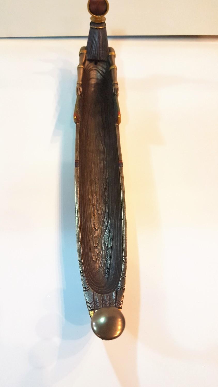 Goddess Aset (Isis) Boat Incense Holder