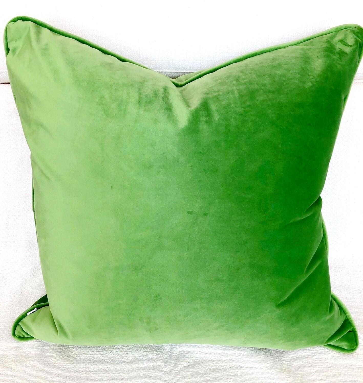 kelly green velvet pillow