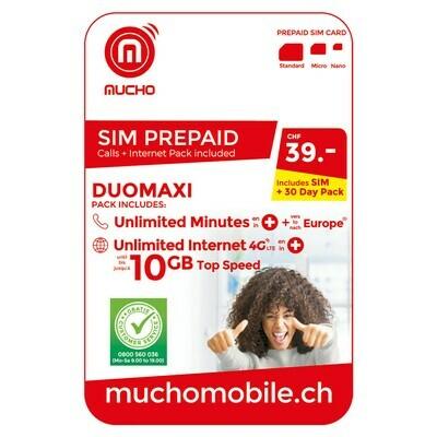 MUCHO SIM 39 FR. DUOMAXI ***GRATUIT / CARD