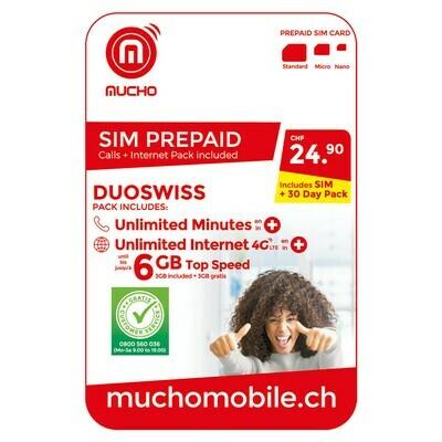 MUCHO SIM 24.90 FR. DUOSWISS ***GRATUIT / CARD