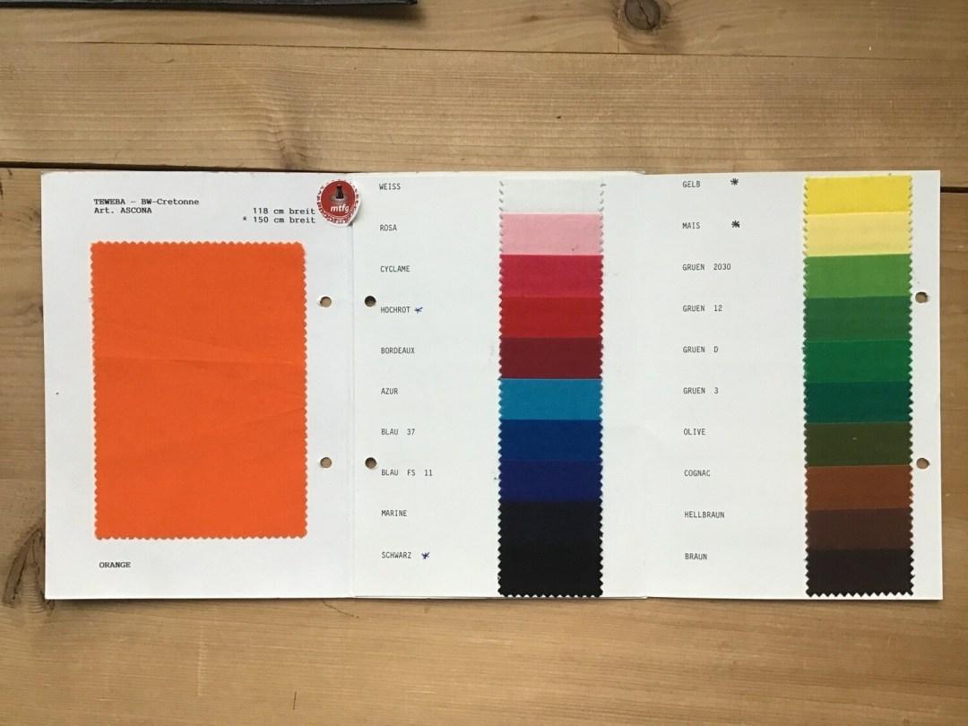 Tissu coton cretonne Ascona 118-150