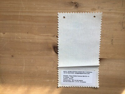 Tissu coton canvas 200 FR + S 307