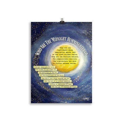 Who Are The Midnight Hummingbirds Poster - 30 x 40 cm