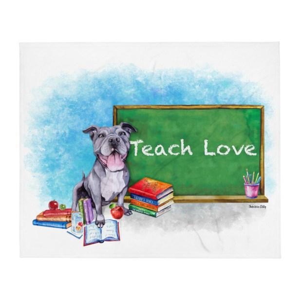 Valerie Teach Love Throw Blanket - V2