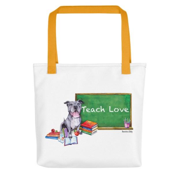 Valerie Teach Love Tote Bag