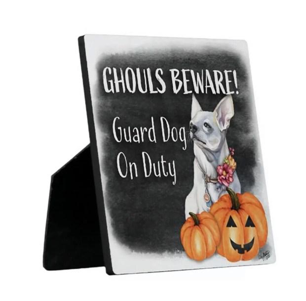 Ghouls Beware Security Sign - Coqui