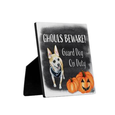 Ghouls Beware Security Sign - Rupert