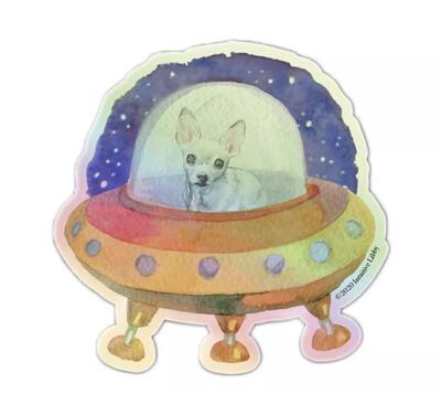 Martian Maybelline Hologram Sticker