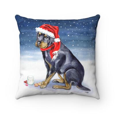 Santa (Fur)Baby Pillowcase - Rottweiler - Night Sky Edition