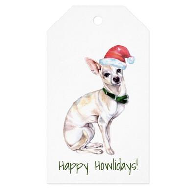 Santa Paws Gift Tags - Chihuahua