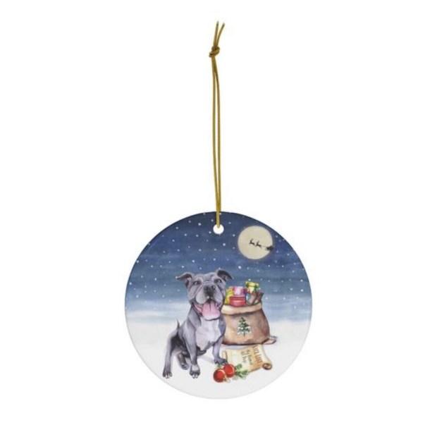 Santa's Helper - Pitbull Ornament