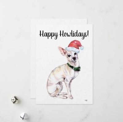 Happy Howlidays Card - Chihuahua