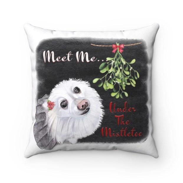 Santa (Fur) Baby Pillowcase - Pomeranian