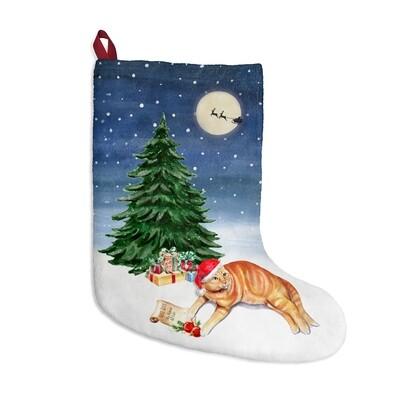 Santa, (Fur)Baby Stocking - Cat