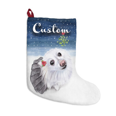 Santa, (Fur)Baby Stocking - Pomeranian