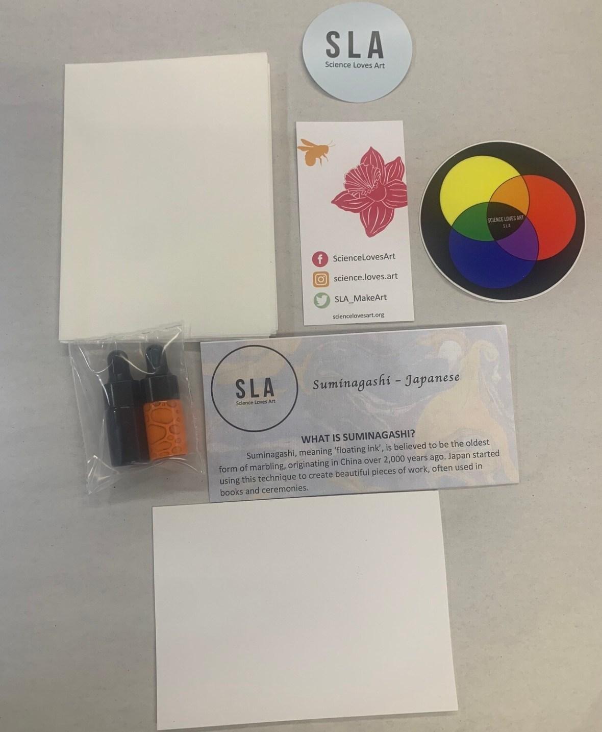 Mini Marbling Kit * Make 4+ sheets of handmade marbling paper for cards/book
