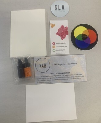 Mini Marbling Kit * Make 4+ sheets of handmade marbling paper for cards/book