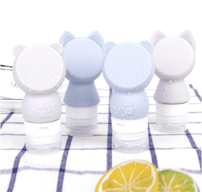 bouteille silicone chat / ours