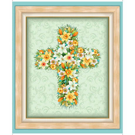 Floral Cross Panel