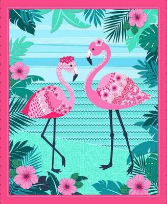 Flamingo Couple Panel (136)