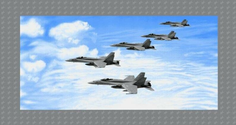 Formation Fighter Jet Panel E4282P-11