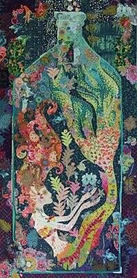 Mermaid in Bottle Collage