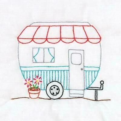Happy Camper 9in Quilt Block Pattern