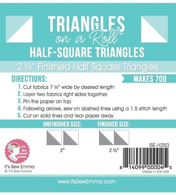 Triangles on a Roll 2.5 in QRH250