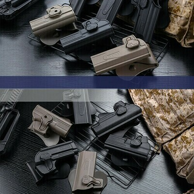 Amomax Paddle Holster to fit Beretta M92 variants: Black