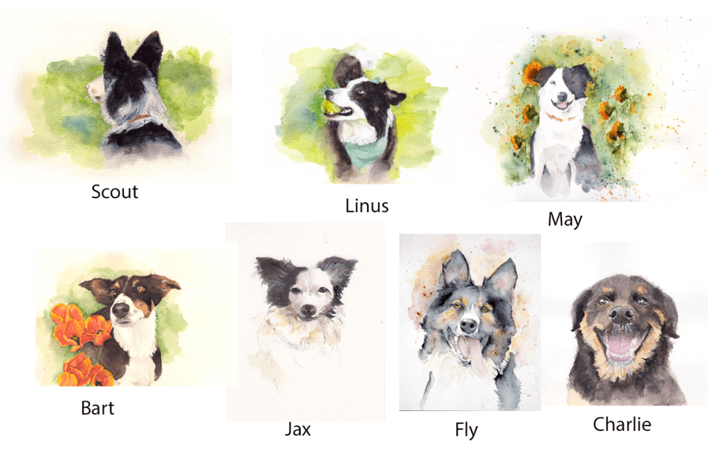 Giclee Watercolor Dog Prints - MABCR Exclusive
