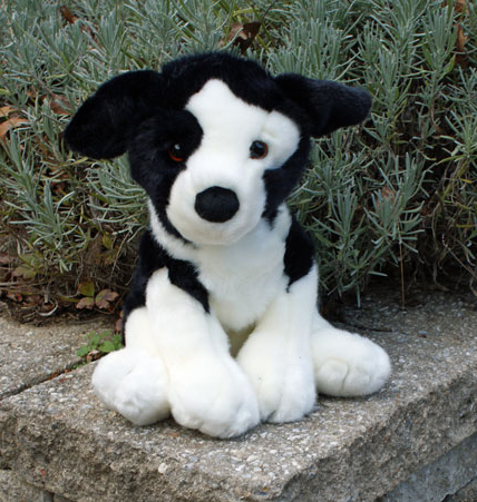 Large Stuffed Splitface Border Collie