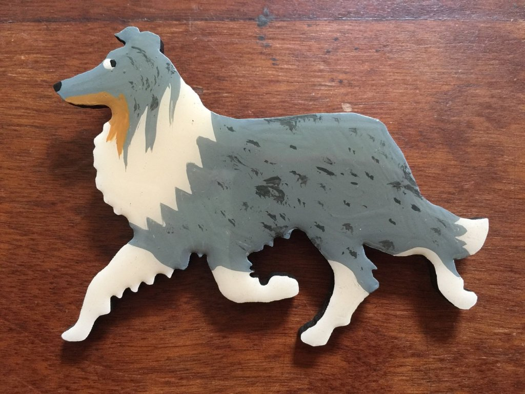 Merle Border Collie Pin -  FREE Shipping