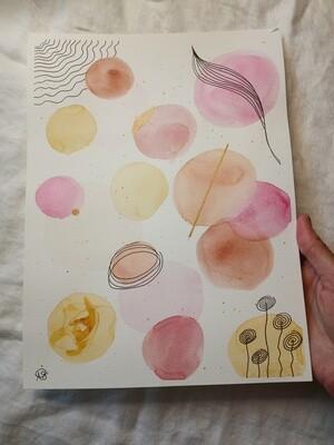 Casual Pink - ORIGINAL Abstract Watercolors