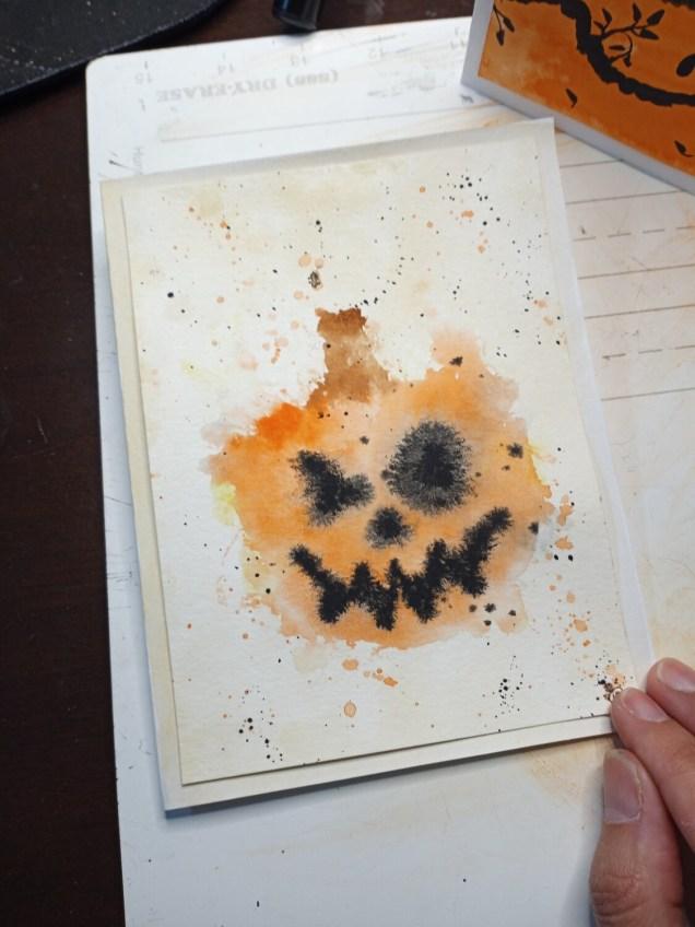 Handmade Halloween Greeting Cards- set of 5