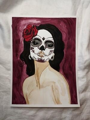 A Portrait of a Candy Skull Beauty