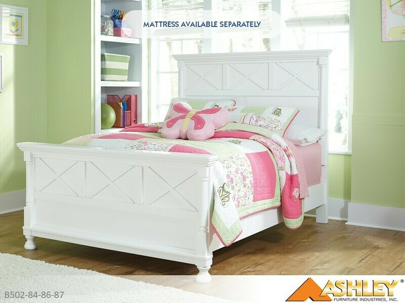 Kaslyn Bed with Headboard Footboard Rails by Ashley (Full)