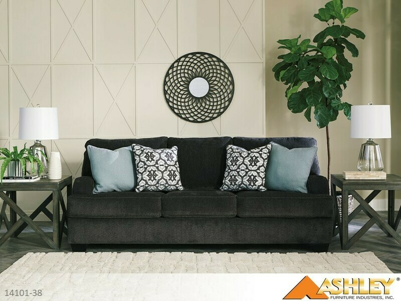 Charenton Charcoal Stationary Sofa by Ashley