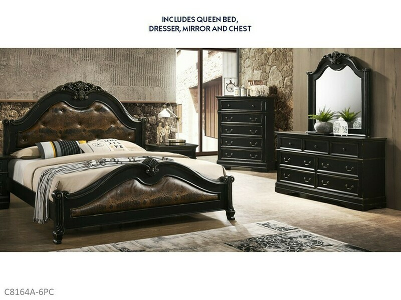 Baton Rouge 6 Pc Bedroom Set by Lifestyle (Queen)