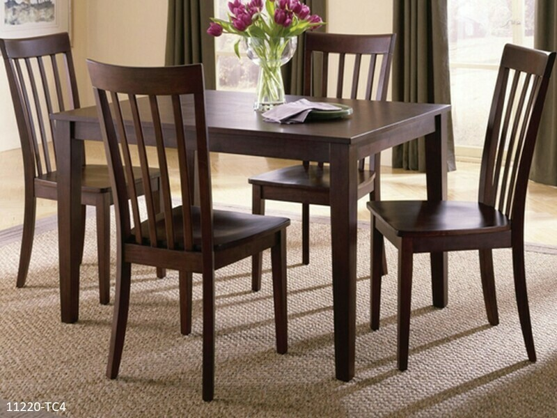 Chocolate Brown 5 Pc Dining Set by Holland House (5 Piece Set)