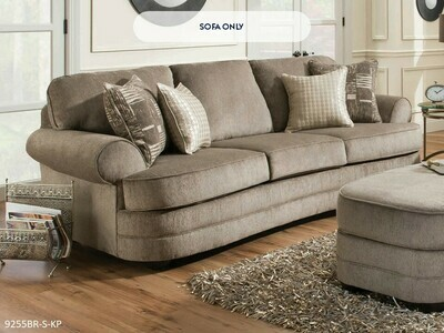 Kingsley Pewter Stationary Sofa by Simmons