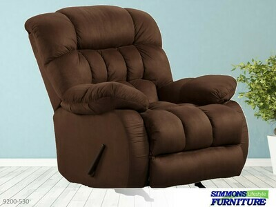 Suede Fudge Recliner by Simmons