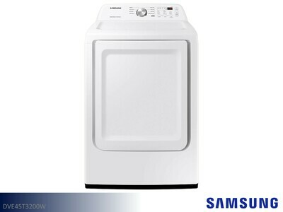 White Electric Dryer by Samsung (7.2 Cu Ft)