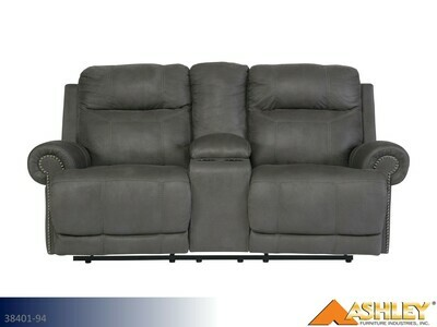 Austere Gray Reclining Loveseat by Ashley