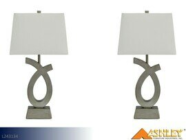 Amayeta Silver Lamps by Ashley (Pair)