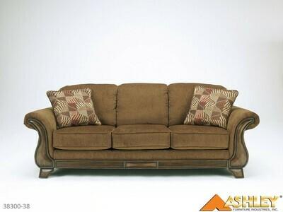Montgomery Mocha Stationary Sofa by Ashley