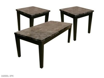 Faux Marble Black Occasional Table Set by AWF Imports (3 Piece Set)