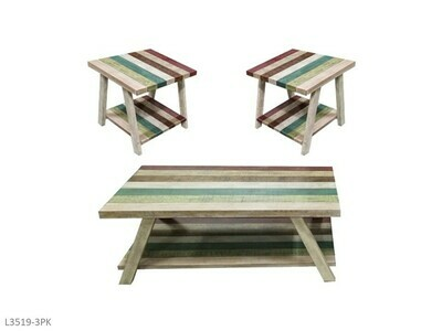 Jib Sail Occasional Table Set by AWF Imports (3 Piece Set)