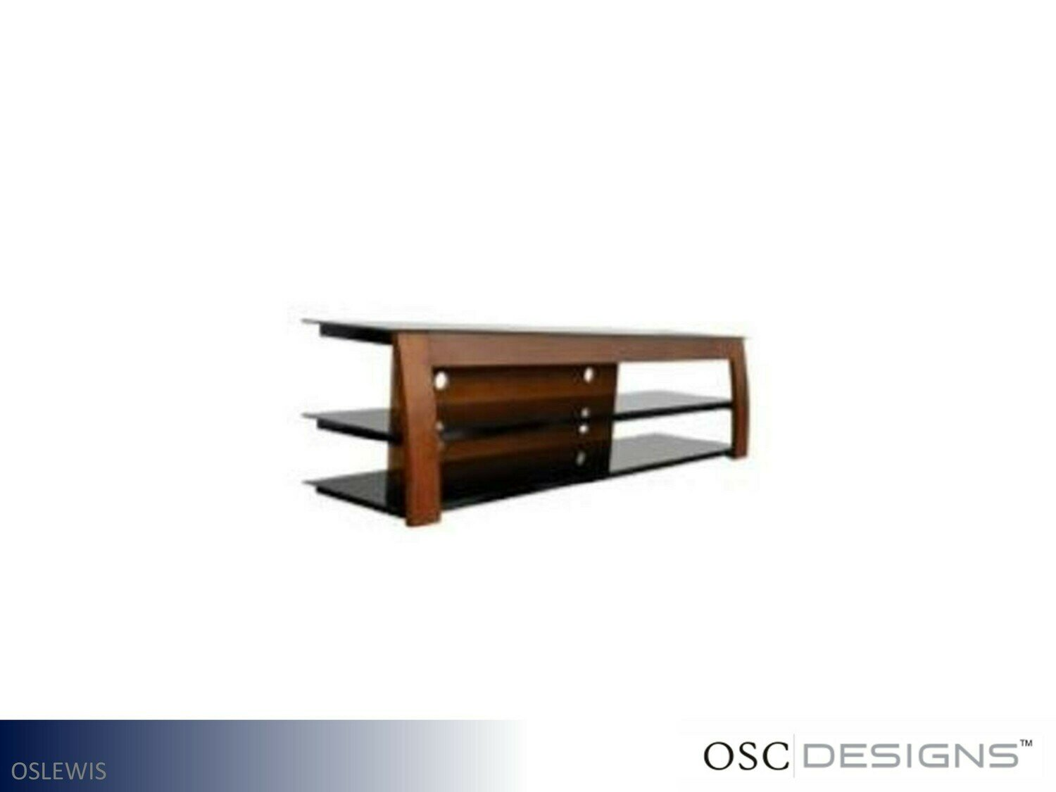 Metal-Glass TV Stand by OSC Designs